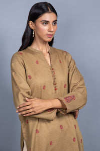 Stitched 1 Piece Embroidered Karandi Shirt
