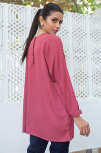 Stitched 1 Piece Embellished Crepe Shirt