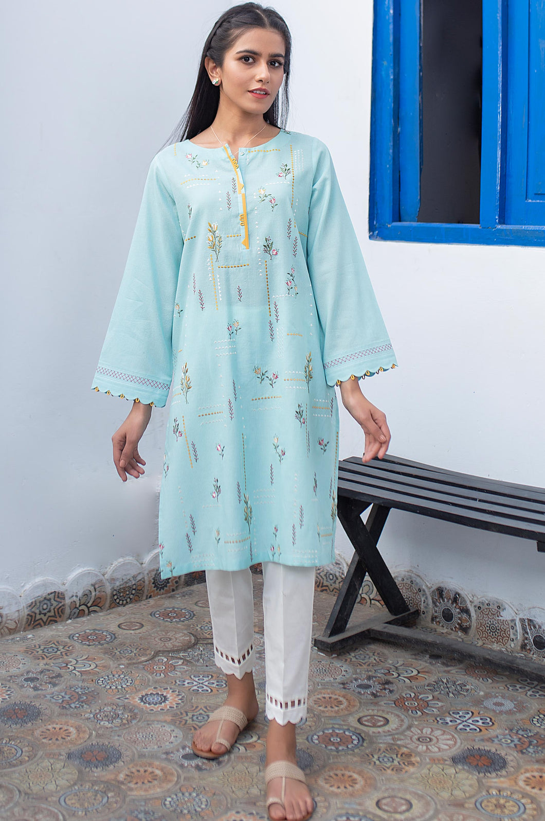 Stitched 1 Piece Embroidered Zari Masoori Shirt