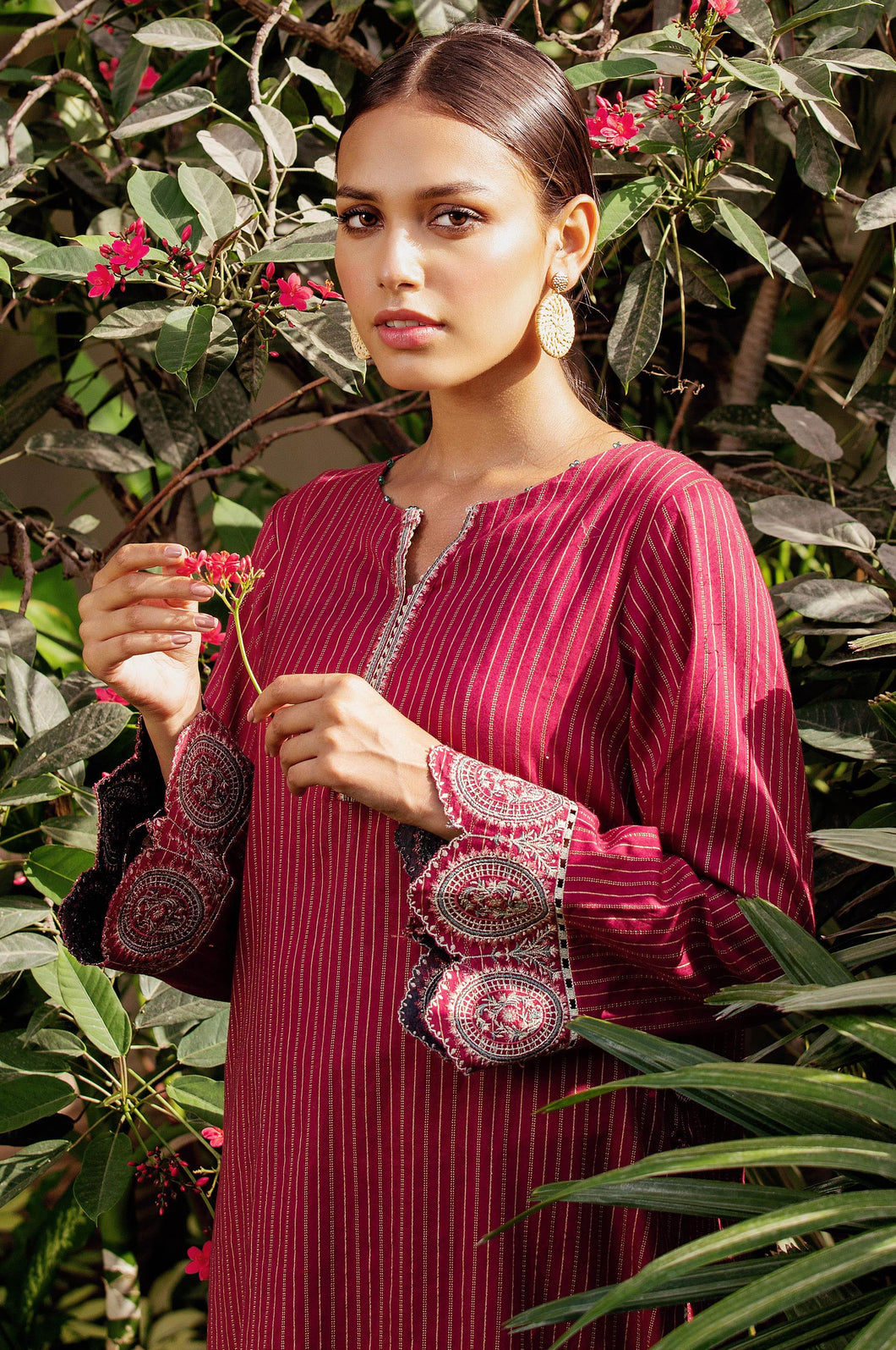 Stitched 1 Piece Embroidered Zari Turkishi Shirt