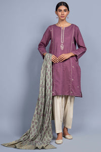 Stitched 2 Piece Embroidered Khaddar Suit