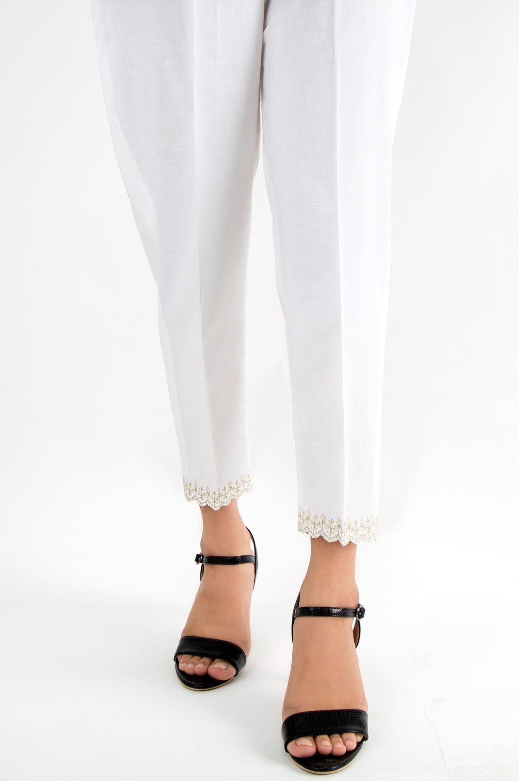 Cambric Capri Pants - Off-White