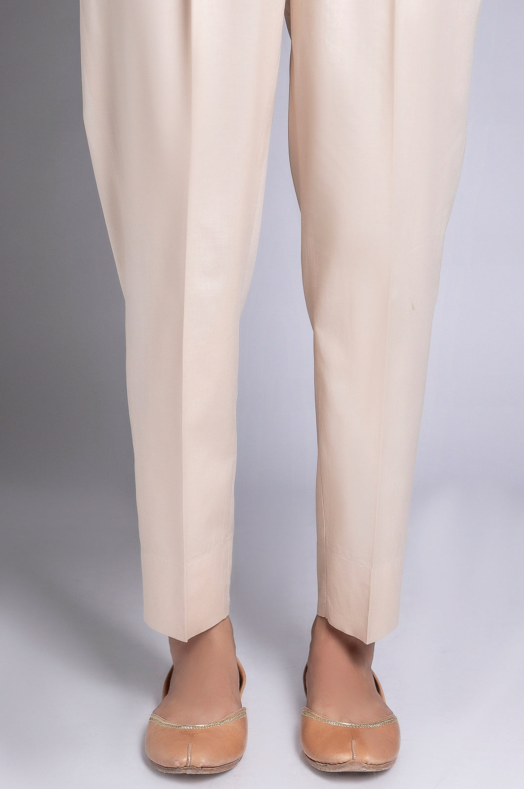 Basic Cigarette Pants - Beige