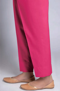 Unstitched Cambric Bottom - Pink