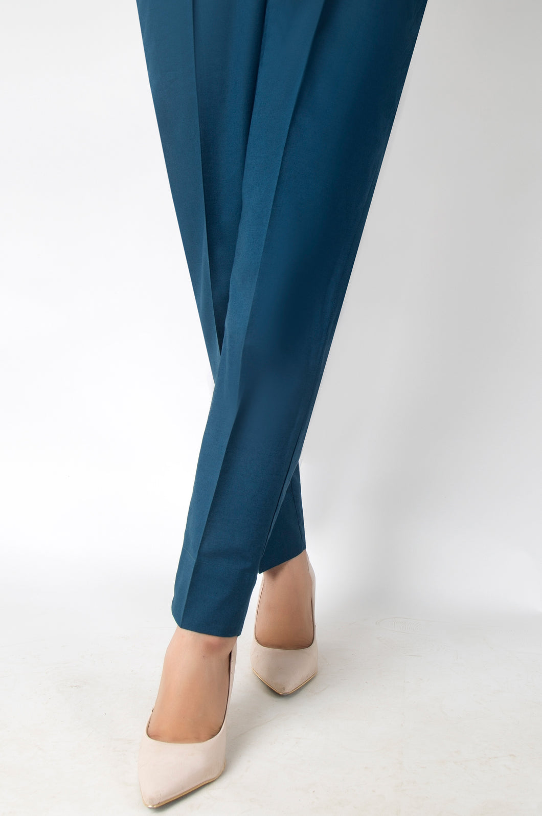 Basic Color Cigarette Pants - Indigo
