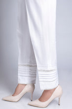 Load image into Gallery viewer, Embellished Cambric Pants - White