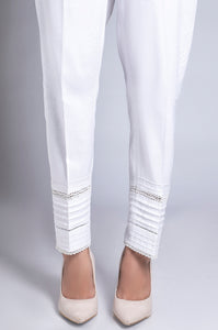 Embellished Cambric Pants - White