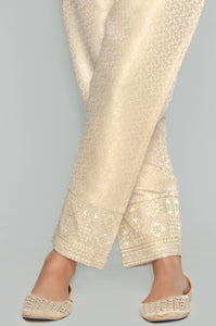 Embroidered Cigarette Pants