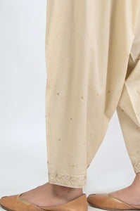 Embroidered Shalwar - Beige