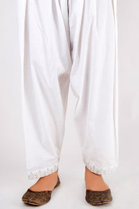 Embroidered Shalwar - White