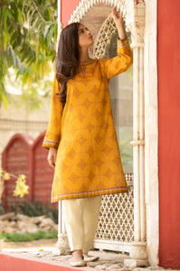 Unstitched 1 Piece Embroidered Lawn Shirt