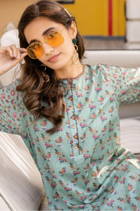 Unstitched 1 Piece Digital Printed Lawn Shirt