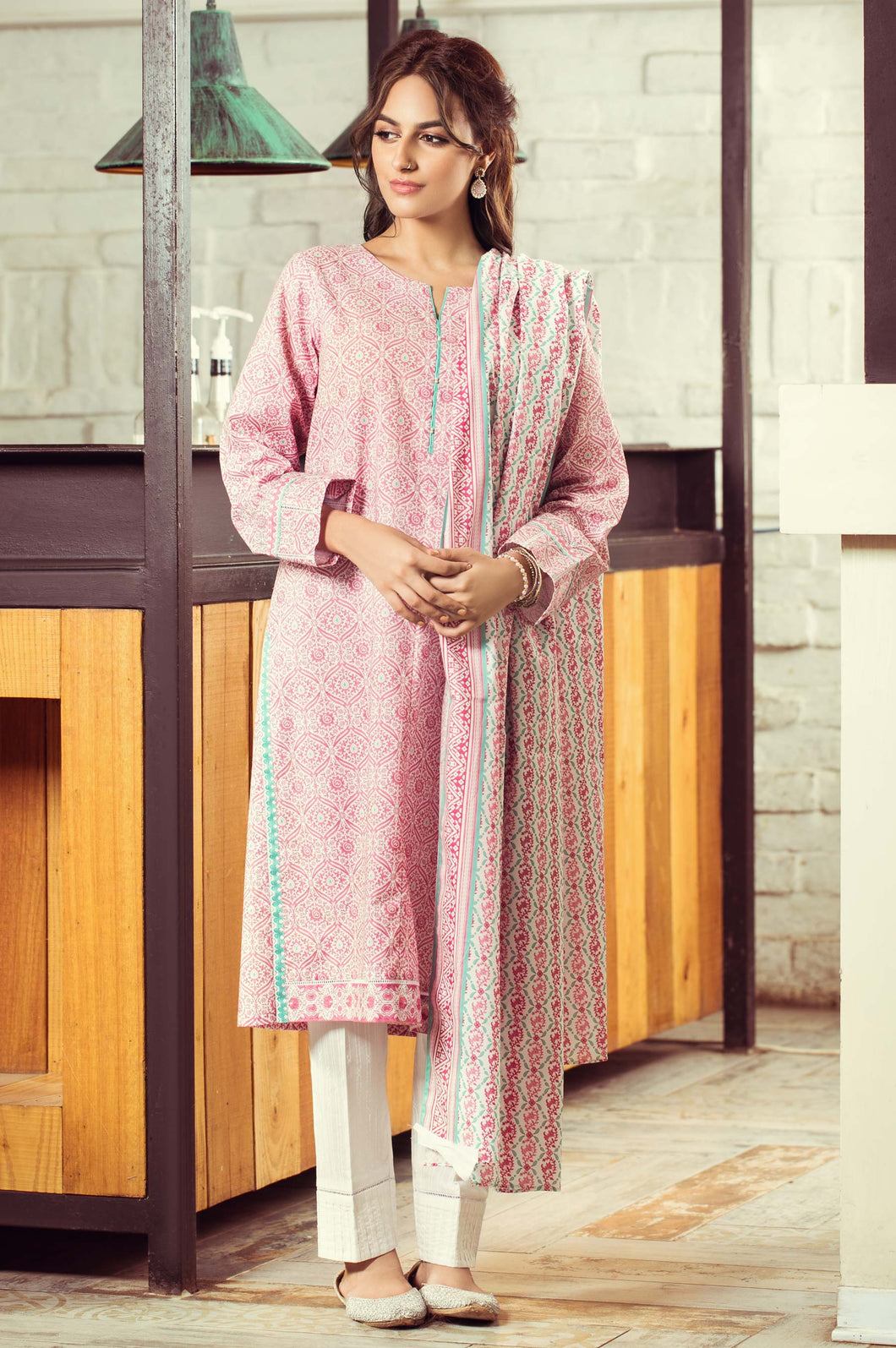 Unstitched 2 Piece Digital Printed Cambric Suit