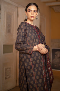 Unstitched 2 Piece Embroidered Khaddar Suit