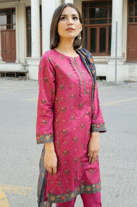 Unstitched 2 Piece Printed Lawn Suit with Printed Lawn Dupatta