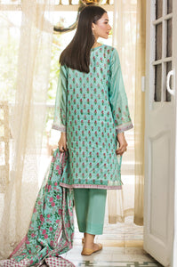 Unstitched 3 Piece Embroidered Slub Lawn Suit