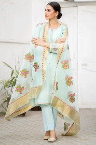 Unstitched 3 Piece Embroidered Maysuri Suit