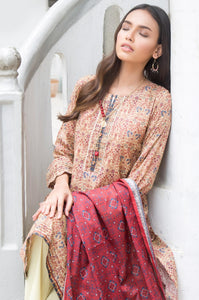 Unstitched 3 Piece Printed Lawn Suit