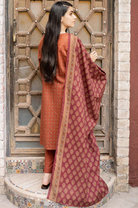 Unstitched 3 Piece Printed Khaddar Suit