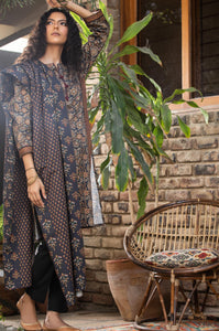 Unstitched 3 Piece Digital Printed Cottel Suit