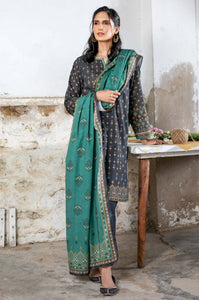 Unstitched 3 Piece Printed Karandi Suit