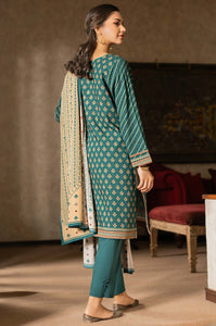 Unstitched 3 Piece Embroidered Linen Viscose Suit