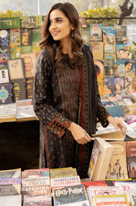 Stitched 3 Piece Printed Lawn Suit with Printed Lawn Dupatta