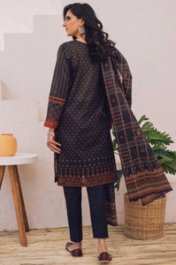 Unstitched 3 Piece Embroidered Lawn Suit with Cotton Net Dupatta