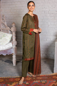 Unstitched 3 Piece Printed Slub Lawn  Suit with Printed Lawn Dupata