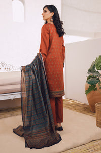 Unstitched 3 Piece Printed Lawn Suit with Cotton Net Dupatta