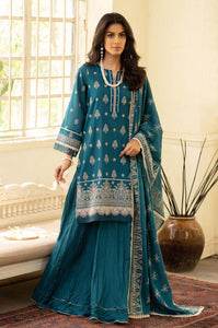 Unstitched 3 Piece Yards Dyed Chikankari Lawn Suit