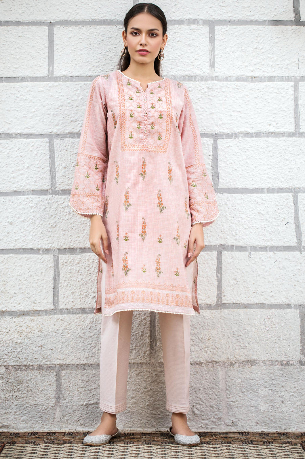 Stitched 1 Piece Digital Printed Lawn Shirt