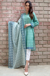 Stitched 2 Piece Printed Lawn Suit