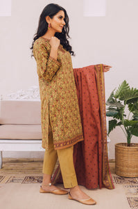 Stitched 2 Piece Embroidered Lawn Suit with Cotton Net Dupatta