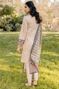 Stitched 3 Piece Embroidered Lawn & Cotton Net Suit