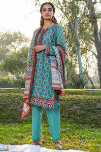 Stitched 3 Piece Embroidered Lawn Suit