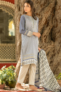 Stitched 3 Piece  Digital Printed Lawn Suit