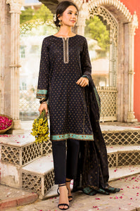 Stitched 3 Piece Embroidered Printed Gold Paste Lawn Suit