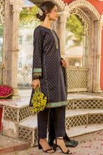Load image into Gallery viewer, Stitched 3 Piece Embroidered Printed Gold Paste Lawn Suit