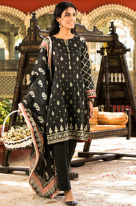 Stitched 3 Piece Printed Doria Lawn Suit
