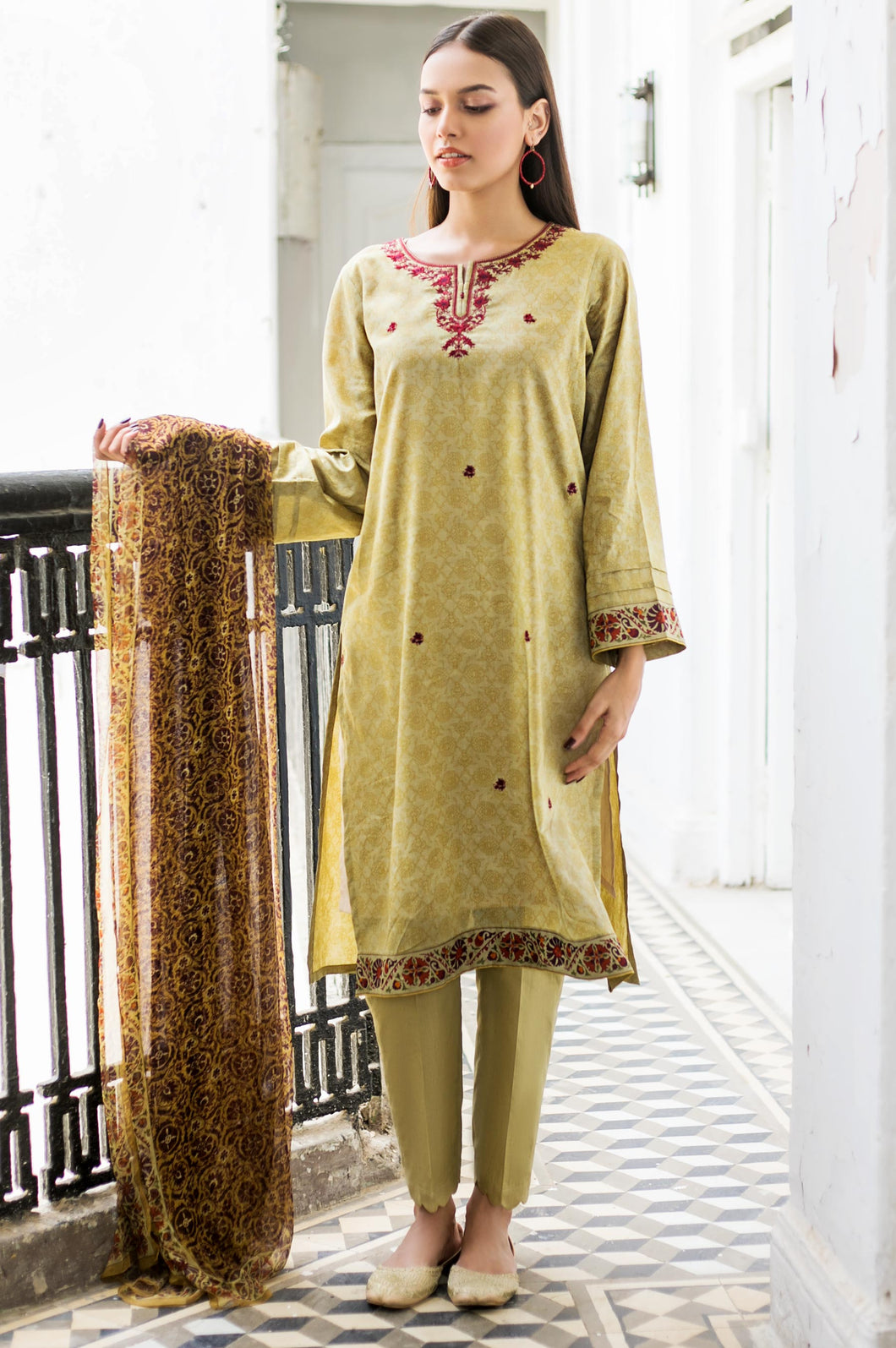 Stitched 3 Piece Jacquard Suit