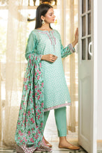 Load image into Gallery viewer, Stitched 3 Piece Embroidered Slub Lawn Suit