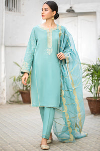 Stitched 3 Piece Embroidered Maysuri Suit