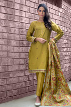 Load image into Gallery viewer, Unstitched 3 Piece Embroidered Cambric Suit