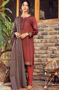 Stitched 3 Piece Embroidered Cottel Suit