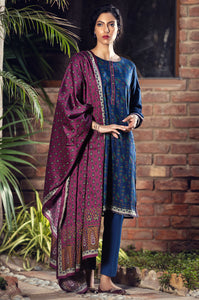 Stitched 3 Piece Printed Cottel Suit
