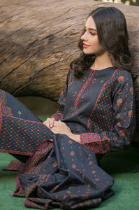 Stitched 3 Piece Embroidered Cambric Suit