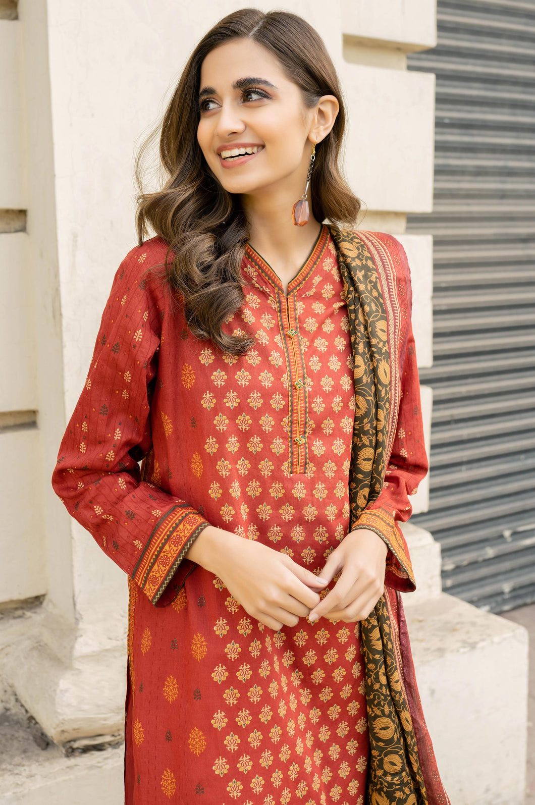 Stitched 3 Piece Printed Lawn Suit