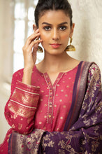Load image into Gallery viewer, Stitched 3 Piece Jacquard Suit with Jacquard Dupatta