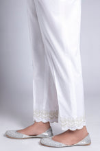 Load image into Gallery viewer, Embroidered Cigarette Pants - White